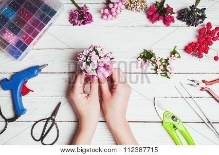 Preparation for handmading