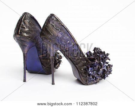 Lavender High Heel Shoes