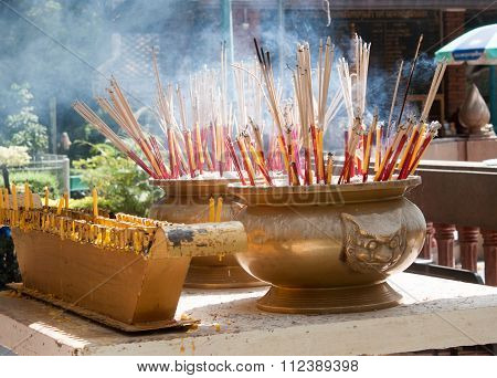 Incense To Worship The Sacred Beliefs Of Buddhists.