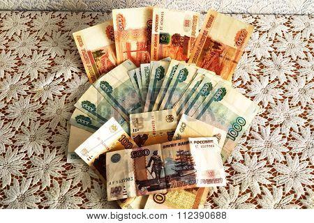 Money Russian ruble