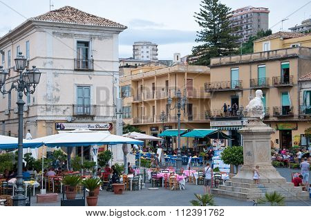 view Of The Main Square Of Pizzo Calabro, Calabria