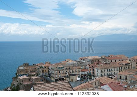 Top View Of The Town Of Pizzo Calabro , Calabria