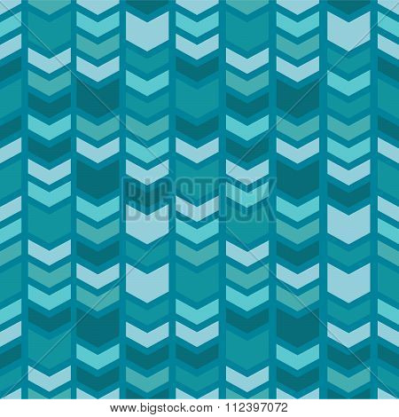 Geometric seamless pattern. Chevron pattern on blue background.