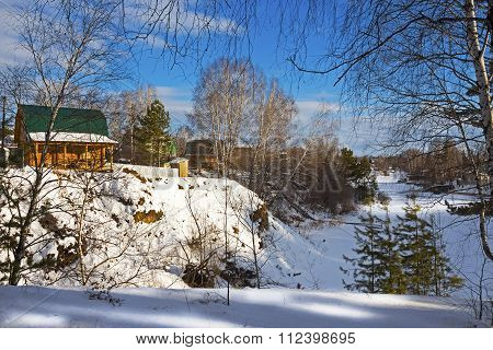 Holiday Village On The Banks Of The River. Russia, Siberia, Novosibirsk Region, Berdsk, River Separa