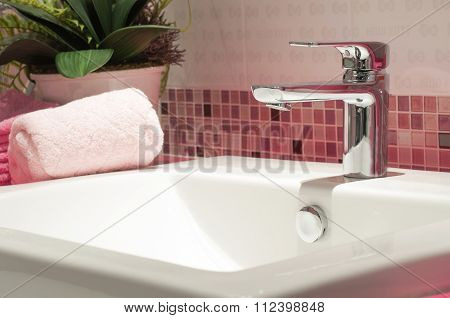 Faucet With Sink Basin