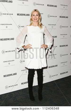 NEW YORK-OCT 11: Actress Kelly Rutherford attends the premiere of 'Meadowland' at Sunshine Landmark on October 11, 2015 in New York City.