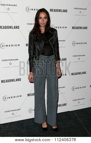 NEW YORK-OCT 11: Actress Rebecca Dayan attends the premiere of 'Meadowland' at Sunshine Landmark on October 11, 2015 in New York City.