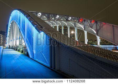 Close up of bridge