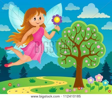 Happy fairy theme image 6 - eps10 vector illustration.