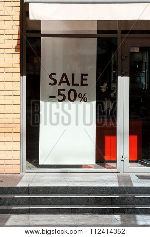 Sale Word On Shopfront Display Window