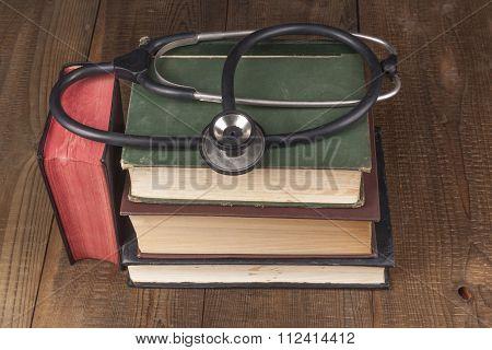 Books And Black Stethoscope