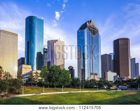 skyline of Houston