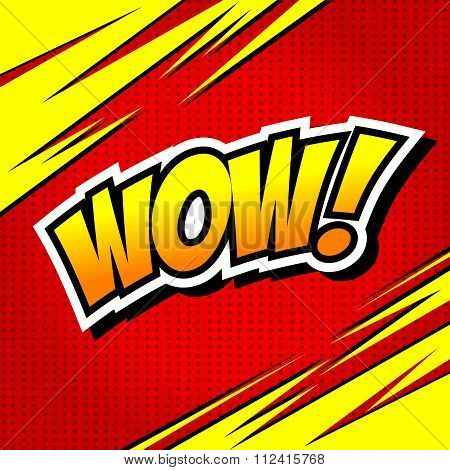 Wow! Comic Speech Bubble, Cartoon