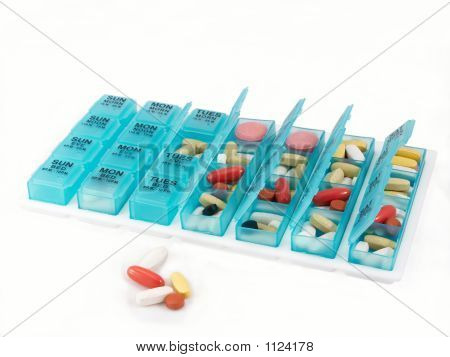 Pill Organizer, Wide View