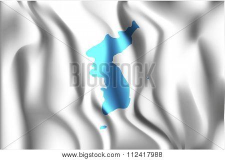Flag Of United Korea. Rectangular Shape Icon