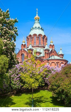Eastern Orthodox Cathedral In Helsinki, Finland