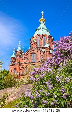 Facade Of Uspenski Cathedral In Helsinki, Finland