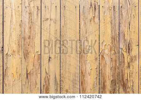 Vintage Yellow Weathered Wooden Plank Texture