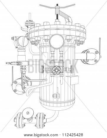 Scetch of heat exchanger