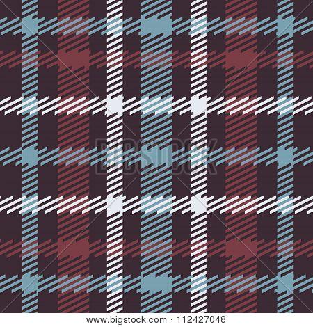 Vector seamless scottish tartan pattern in blue red white navy.