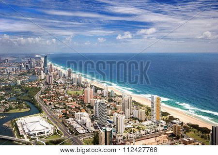 Ocean As Seen From The Gold Coast City