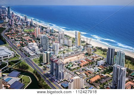 Modern City Located On A Beautiful Coast