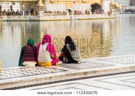 Three Female Sikh Pilgrims, Amritsar.