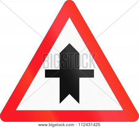 Road Sign Used In Switzerland - Crossroad With A Non-priority Road