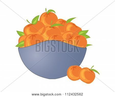 Bowl Of Satsumas