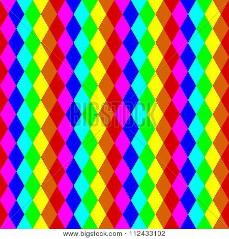 Geometric Seamless Pattern In Rainbow Colors