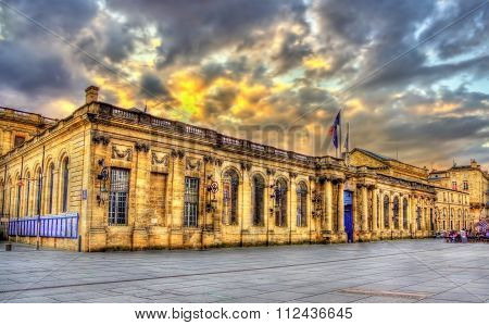 Palais Rohan, The City Hall Of Bordeaux - France