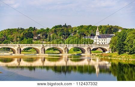 Pont Wilson On The Loire In Tours - France