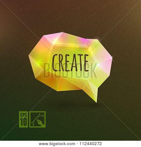 Create Bright And Colorful Speech Bubble.