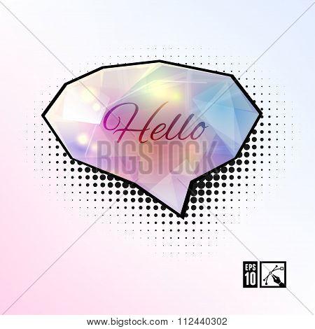 Hello Glamour Speech Bubble.