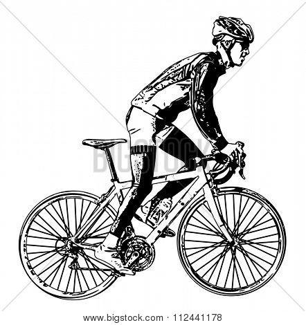 race bicyclist illustration 3 - vector