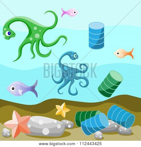 Deep-sea life and pollution of the environment