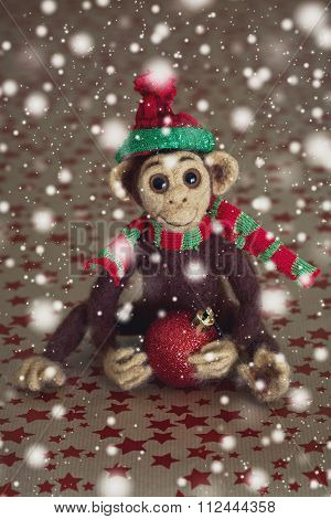 Homemade toy monkey.