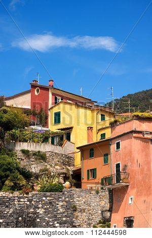 Colorful Houses In Liguria - Italy