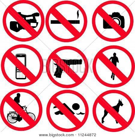 prohibit sign - vector