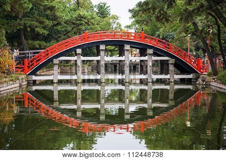 Taiko Bashi Bridge, Bridge To Enter Temple
