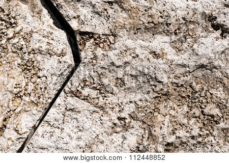 Stone Background With Big Crack