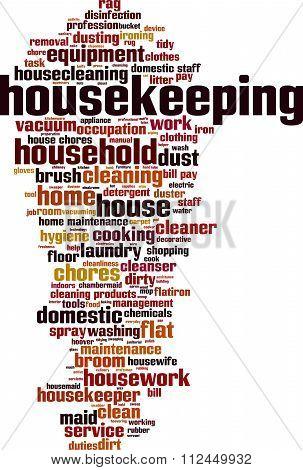 Housekeeping Word Cloud