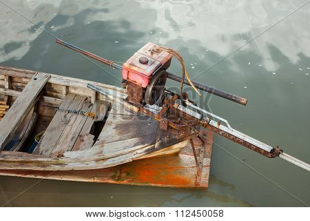 Thai Long Tail Fishing Boat