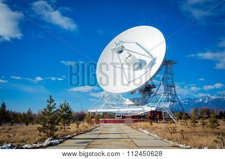 Huge radio antenna with big diameter