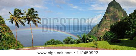 Rainbow In Saint Lucia