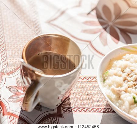Coffee With Warm Light