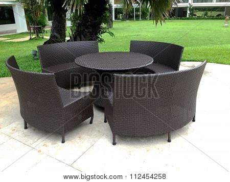 Weave Table And Chairs