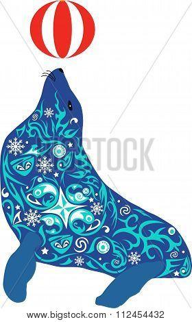 seal, aquatic, mammal, zoology, beast,