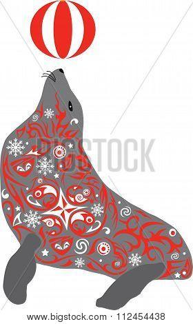 seal, aquatic, mammal,