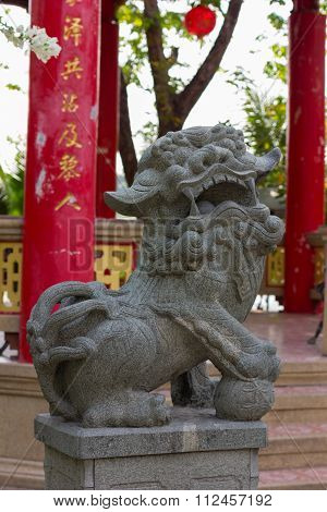 Stone dragon sculpture